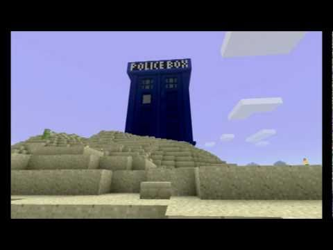 Minecraft - The Tardis from Doctor Who.