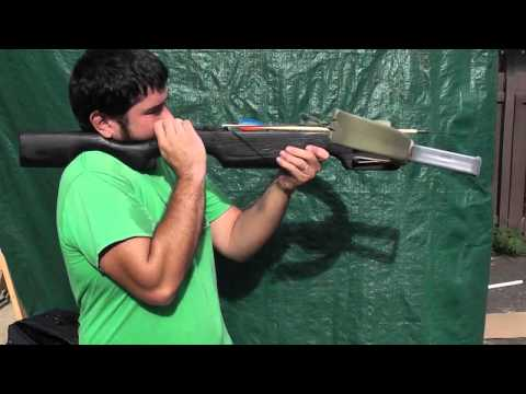 Shooting the 100 Pound PVC Crossbow