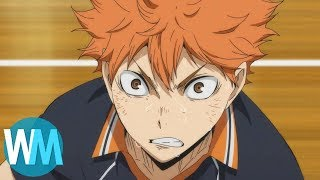Top 10 Haikyuu Moments (ft. Bryson Baugus - Voice of Hinata!)