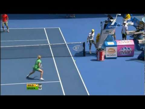 Funny Federer around the net [HD]