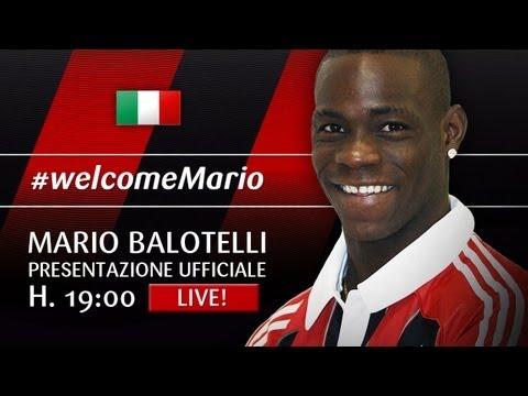 Mario Balotelli [ITA] Presentazione Ufficiale AC Milan
