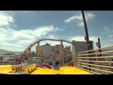 Roller Coaster (HD POV) New York, New York Hotel & Casino Las Vegas