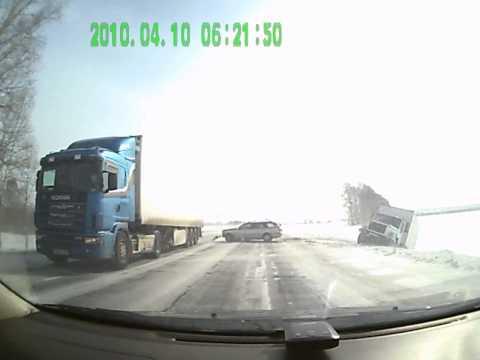 Авария на трассе М-52 Буланиха 8.03.13