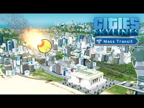 Cities Skylines Mass Transit - Недокатастрофы! #44
