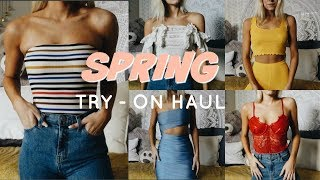 HUGE SPRING TRY ON HAUL | URBAN OUTFITTERS, FREE PEOPLE, PLT & MORE!