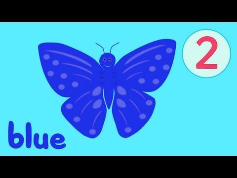 Limba engleza pentru copii - Culorile fluturilor