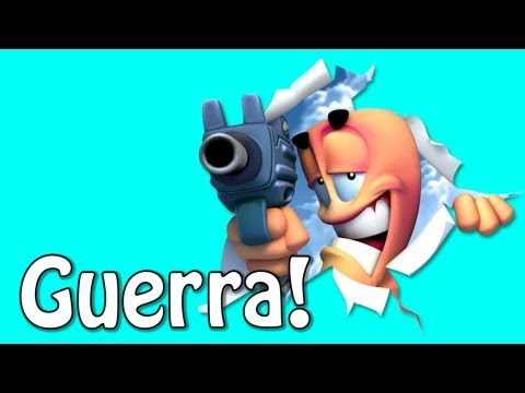 Guerra de Youtubers! - Worms Revolution (ft Leon)