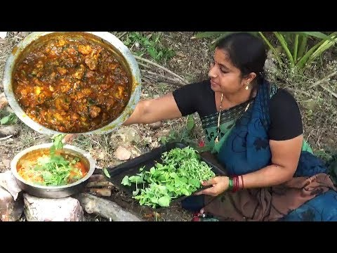 Tasty Chicken Gongura Recipe | Village Food Cooking Sorrel Leaves Curry Recipe | Easy Chicken Gravy