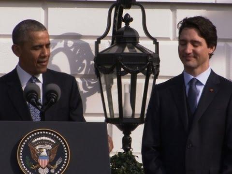 Obama, Trudeau Trade Hockey Jabs at White House