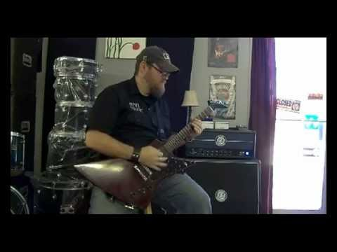 Jet City JCA100H 100 watt Head Demo with Gibson Explorer