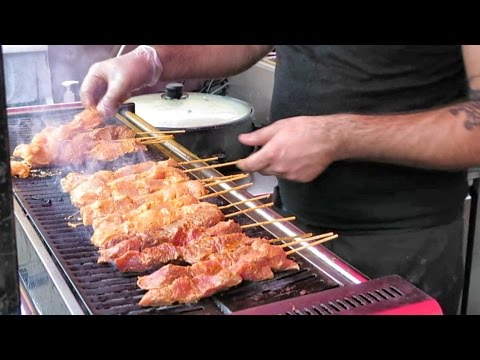London Street food From Turkey. Kebab and Roasted Meat. Camden Town