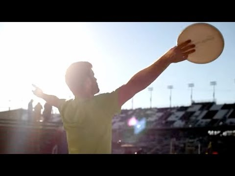 What happens when Frisbee meets NASCAR? EPIC trick shots, obviously. I visited Daytona International Speedway and got to throw the disc around with drivers like Kyle Larson, Parker Kligerman...