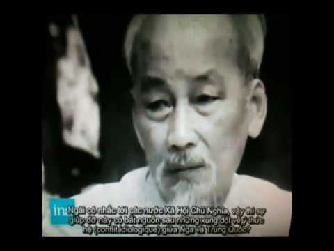 Ho Chi Minh smoking during an interview