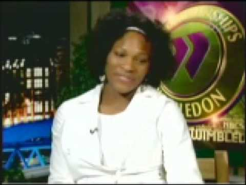 Serena Williams interview during Wimbledon 2008