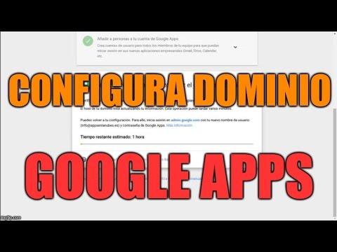 Configuración de dominio para G Suite en Español