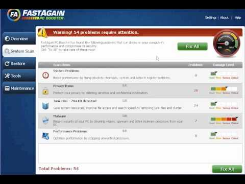 FastAgain PC Booster Review - Nice Software To Speed Up Your PC