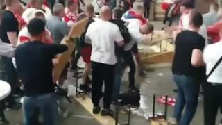 Poland Hooligans vs Senegal fight! at the World Cup Russia!