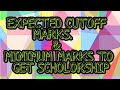 ASAT Cut Off and minimum marks to get scholorship