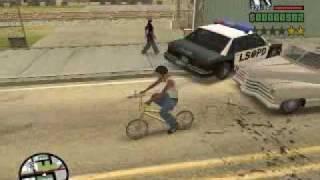 GTA San Andreas - Fugindo da polícia de Bike