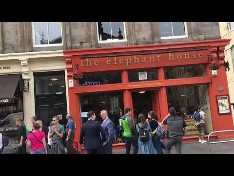 The elefant house, onde Harry Potter foi escrito. Edimburgo, Escócia