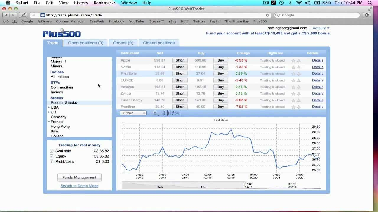 Binary options money management system