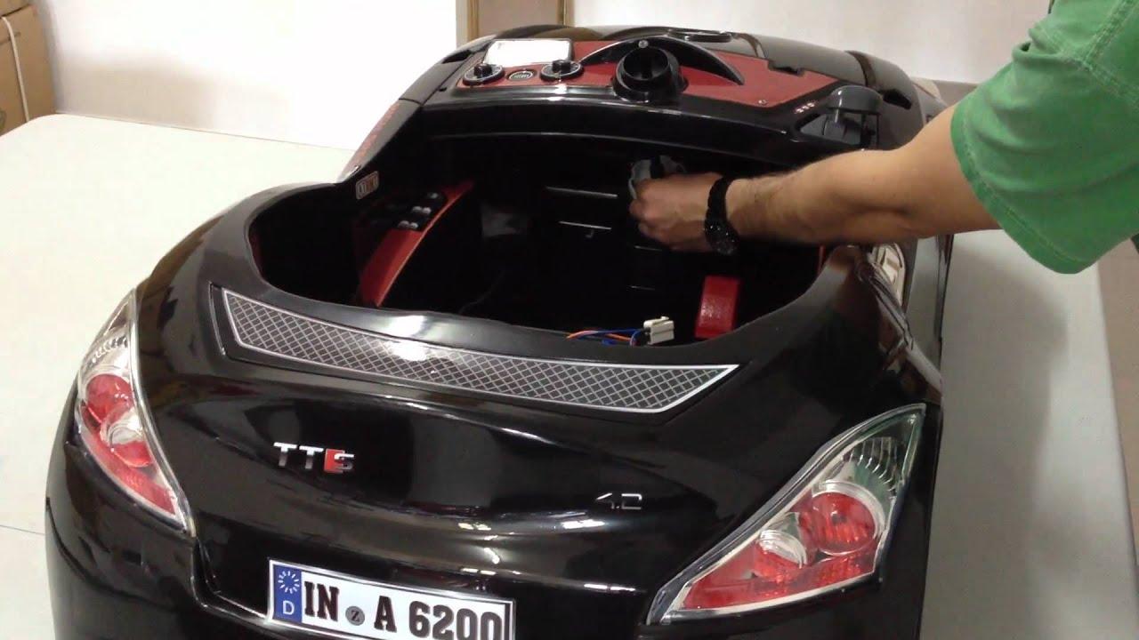 Montaje coche electrico 6v con control remoto para ni os for Coches para bebes
