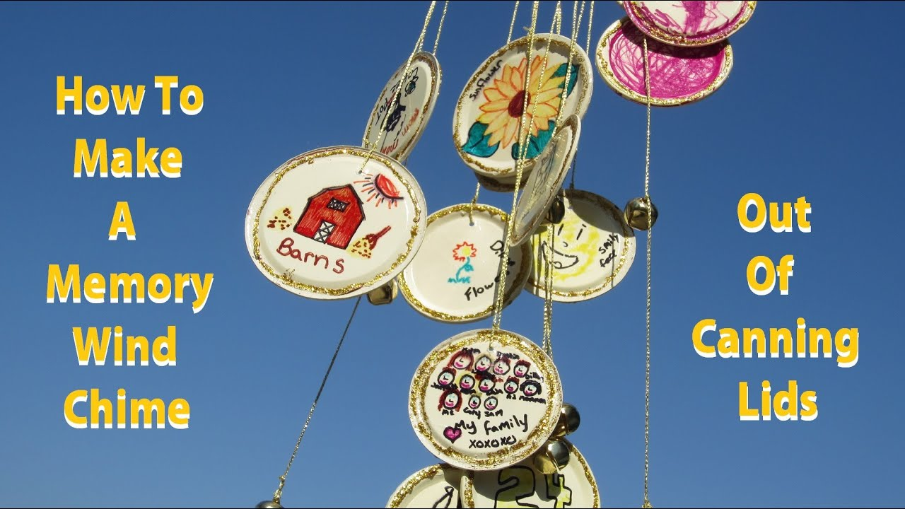 How to make a memory wind chime youtube for How to make a simple wind chime