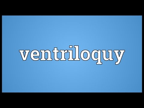 Header of ventriloquy