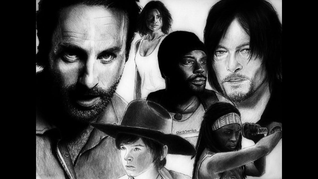 Walking Dead Drawings Drawing The Walking Dead Cast