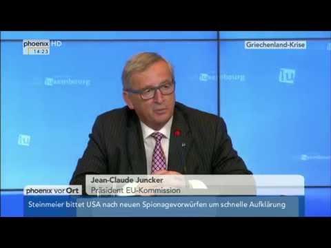 Griechenland-Krise: Jean-Claude Juncker zum Referendum am 03.07.2015