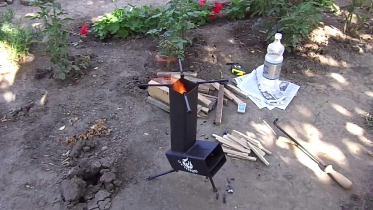 Походная ракетная печка своими руками 78