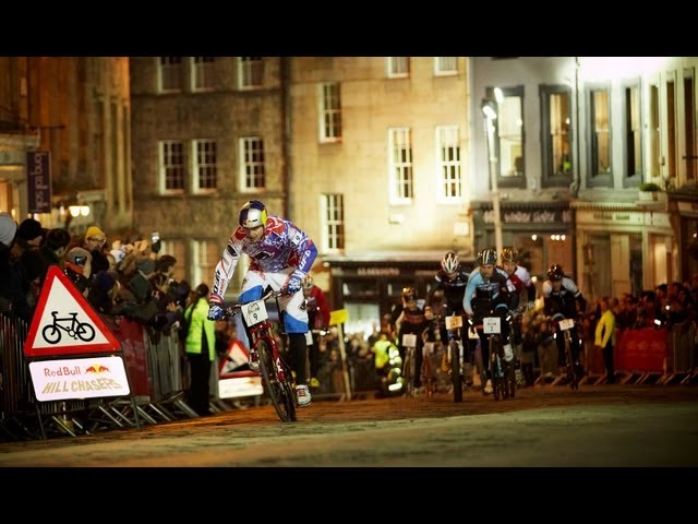 Uphill Cycling Race in Edinburgh - Red Bull Hill Chasers 2013