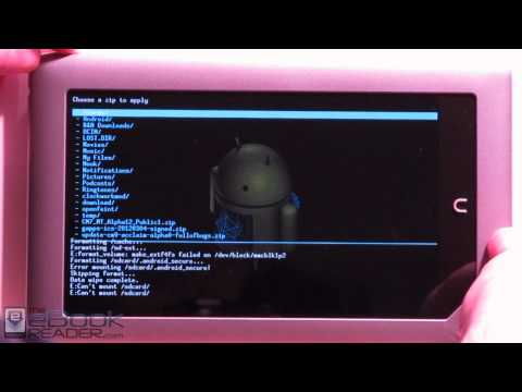 How to Install Android 4.0 on Nook Tablet. plus ICS Google Apps
