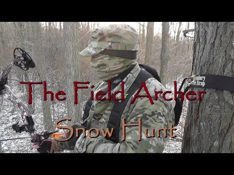 BOWHUNTING: WINTER BOW DEER HUNT IN THE SNOW