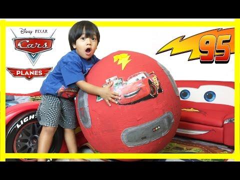 100+ cars toys GIANT EGG SURPRISE OPENING Disney Pixar Lightning McQueen