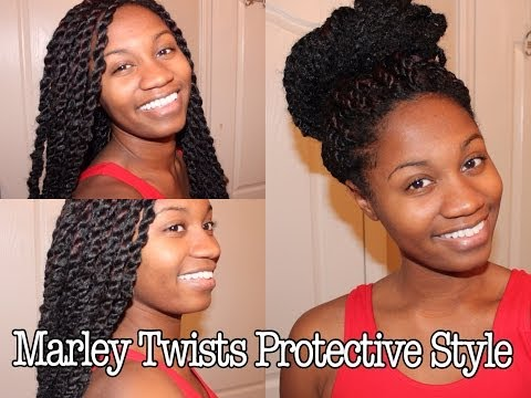 Marley Twists/ Havana Twists Protective Style on Natural Hair   EiffelCurls