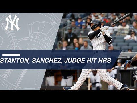 Stanton, Sanchez, Judge all homer in the Bronx