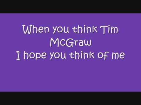 Tim McGraw - Taylor Swift with lyrics on screen! :)