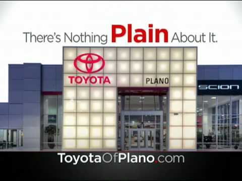 Toyota of Plano Proud to Serve Dallas/Fort Worth Metroplex: There's nothing PLAIN about it!