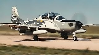 USAF A-29 Super Tucano and AT-6 Texan II • Dirt Runway Test
