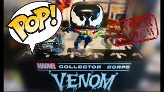 MARVEL COLLECTORS CORPS VENOM MOVIE UNBOXING REVIEW WITH FUNKO POP OUT THE BOX #VENOM #VENOMMOVIE