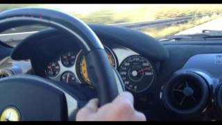 330 km/h (205 mph) on German Autobahn - Ferrari 430 Scuderia Capristo Exhaust - 1080p HD