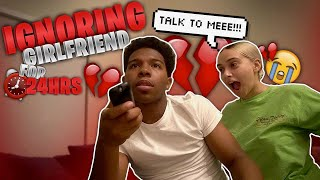I IGNORED MY GIRLFRIEND FOR 24 HOURS! *she cried*