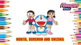 How Drawing Doremon Cartoon Characters | Family funny Doraemon in Hindi New #443