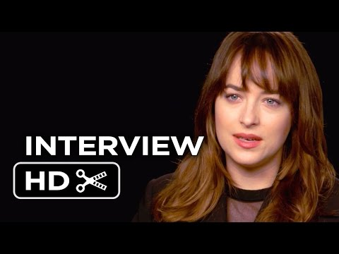 Fifty Shades of Grey Interview - Dakota Johnson (2015) - Jamie Dornan Movie HD