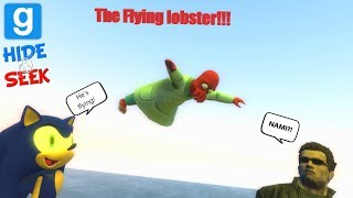 Gmod - The flying Lobster!!!(Funny Moments!)