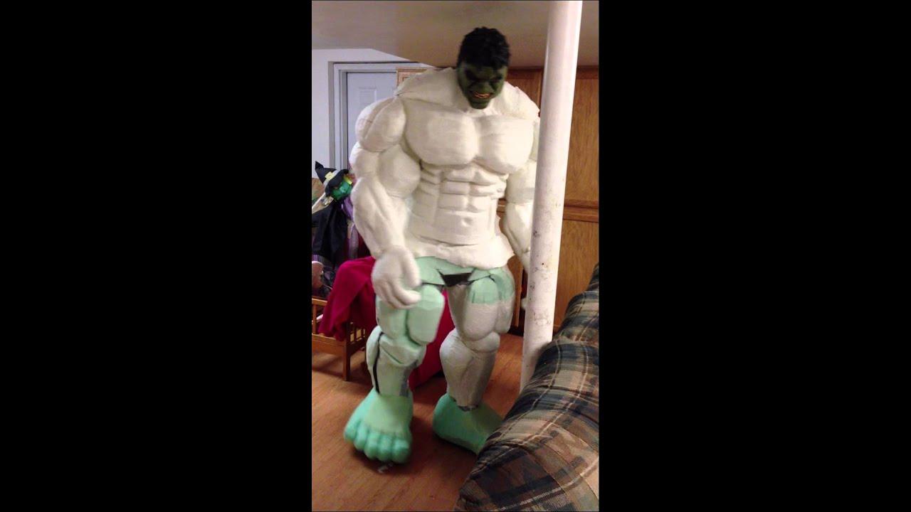 Good Hulk Fit Hulk Foam Costume Test Fit 4