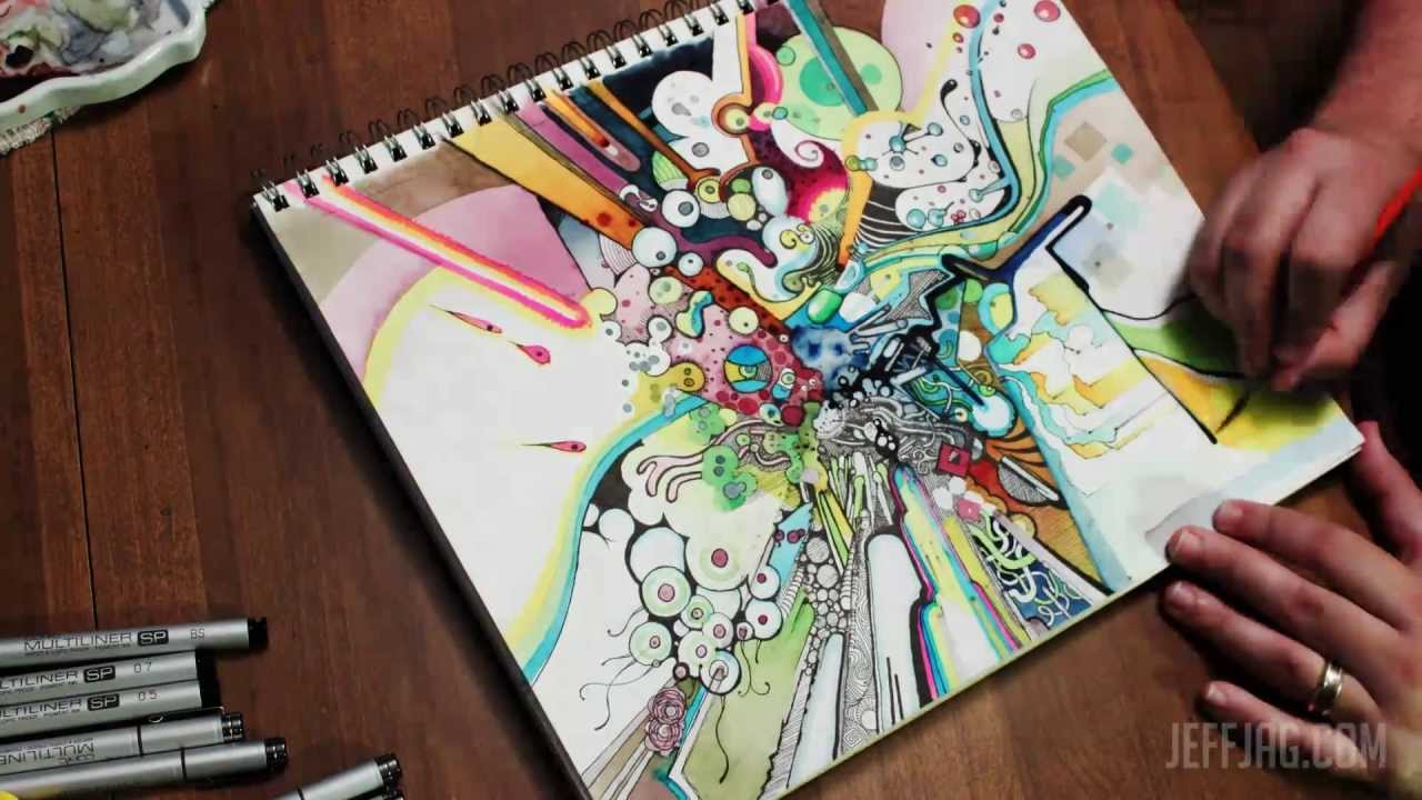 """Tubes of Wonder"" Watercolor + Pen & Ink Time-Lapse ..."