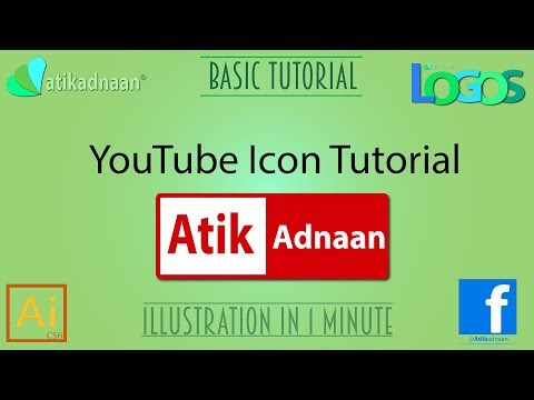 YouTube Icon With Your Name - Adobe Illustrator CC Tutorial