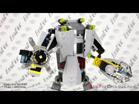 BAXTER ROBOT RAMPAGE - Lego Teenage Mutant Ninja Turtles 79105 Animated Building Review